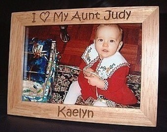 5x7 Personalized Engraved I Love My Uncle or Aunt Wood Frame, Gifts for Uncles, Gifts for Aunts, Custom Uncle Frame, Custom Aunt Frame