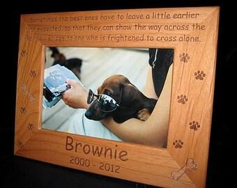 4x6 Personalized Pet Frame, Engraved Dog Cat Frame, Cat Lovers Gift, Dog Lovers Gift, Pet Lovers, Pet Memorial Keepsake, Rainbow Bridge