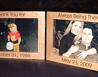 Personalized Engraved Double Hinged 4x6 Frames Keepsake Gift Bride Groom Frame Gift Bridesmaid Gifts