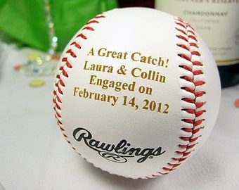 Engraved Engagement Baseball Personalized Bride Groom Wedding Bridal Shower Gift Wedding Keepsake Anniversary