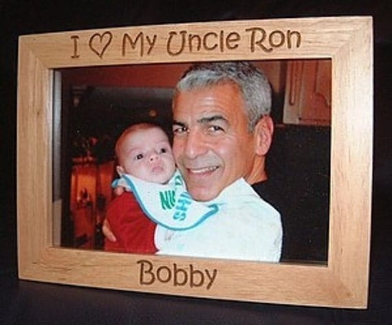 personalized engraved i love my uncle or aunt wood frame gifts for uncles gifts
