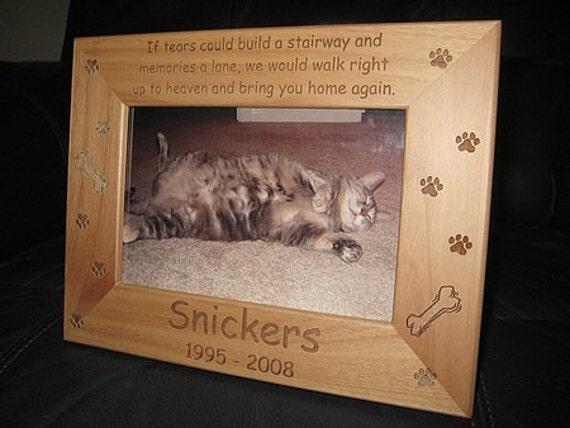 4x6 personalized dog cat frame engraved pet frame cat lovers gift dog lovers gift pet lovers animal lovers pet memorial keepsake poem