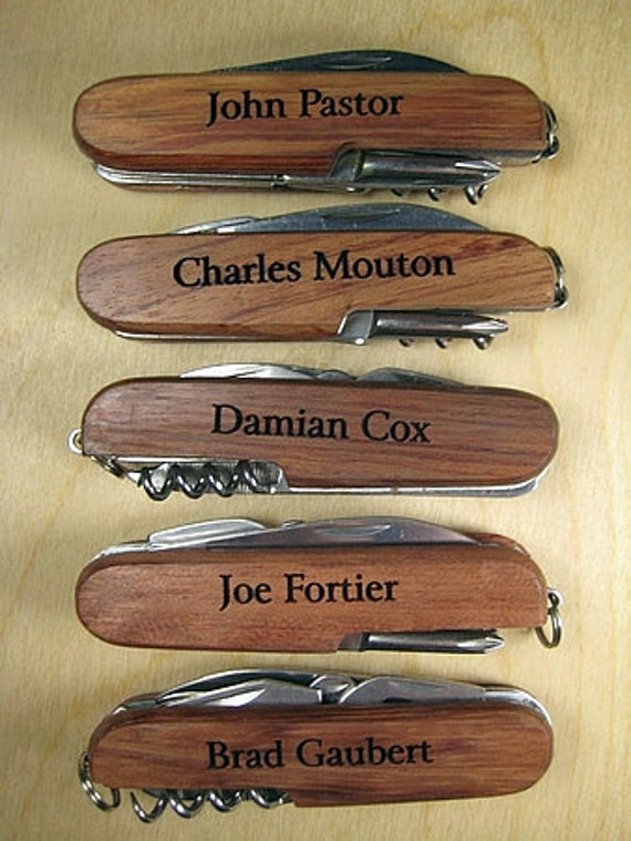 5 Personalized 8 Function Knife Custom Engraved Groomsman Knife Groomsmen Pocket Knife Best Man Knife
