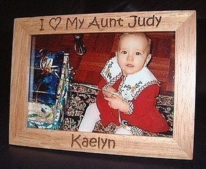 Love Picture Frames on Personalized Engraved I Love My Aunt 4x6 Frame By Engravingwiz