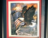 Eagle Pride, in shadow box frame, hand crafted.