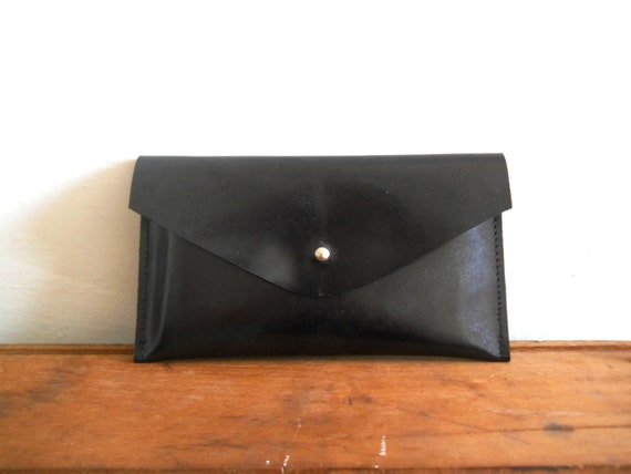 iPhone 5 Leather envelope Case - black