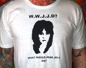 what would joan jett do screen printed t shirt size medium