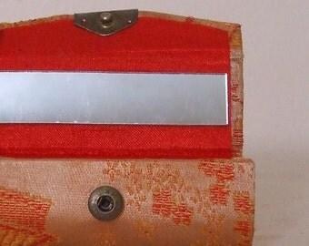 1950s brocade lipstick case