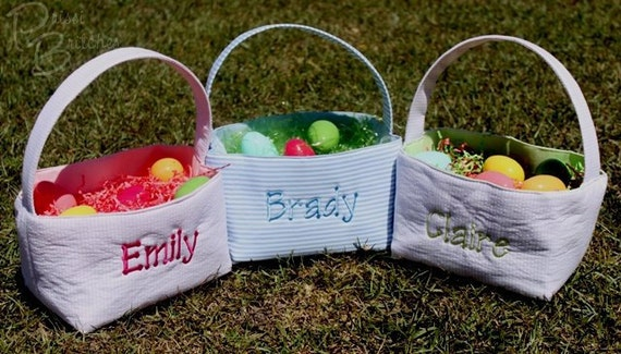 Personalized Fabric Easter Basket or Storage Bin...FREE Monogramming
