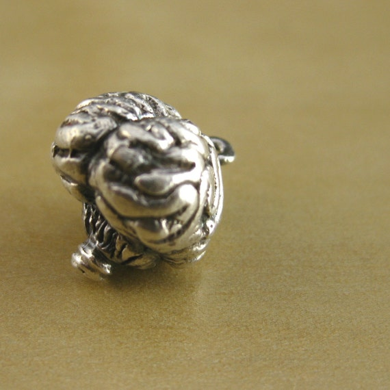 """Brain Sterling Silver Charm Original - """"If I Only Had a Brain"""""""