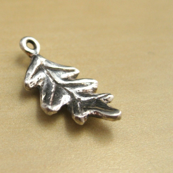 "Oak Leaf Sterling Silver Charm- ""UnbeLEAFable"""