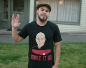 Make It So Captain Picard Graphic Tee