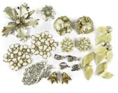 BIG SALE Vintage wedding jewelry destash collection, 95% complete for wear or project