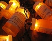 Prescription bottle party lights custom label for pharmacy medical wedding holidays