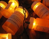 Prescription bottle party lights custom label for pharmacy medical wedding holidays