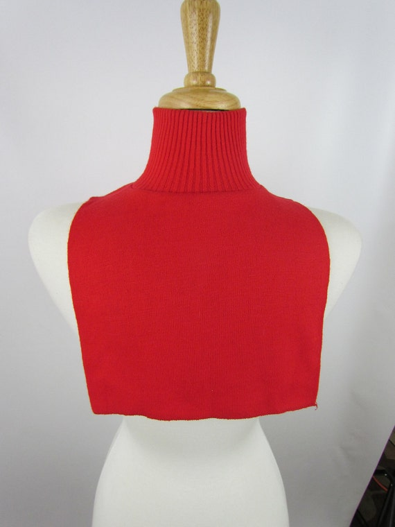 Vintage red dickie style turtleneck, fits men women most sizes