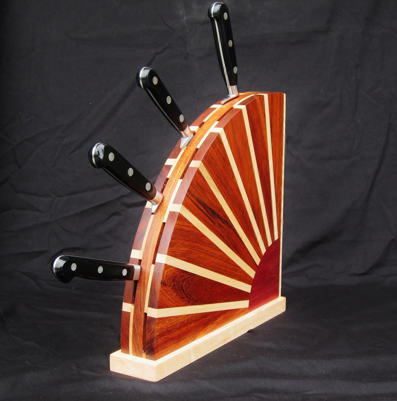 sunset knife block custom order to fit your knives. Black Bedroom Furniture Sets. Home Design Ideas