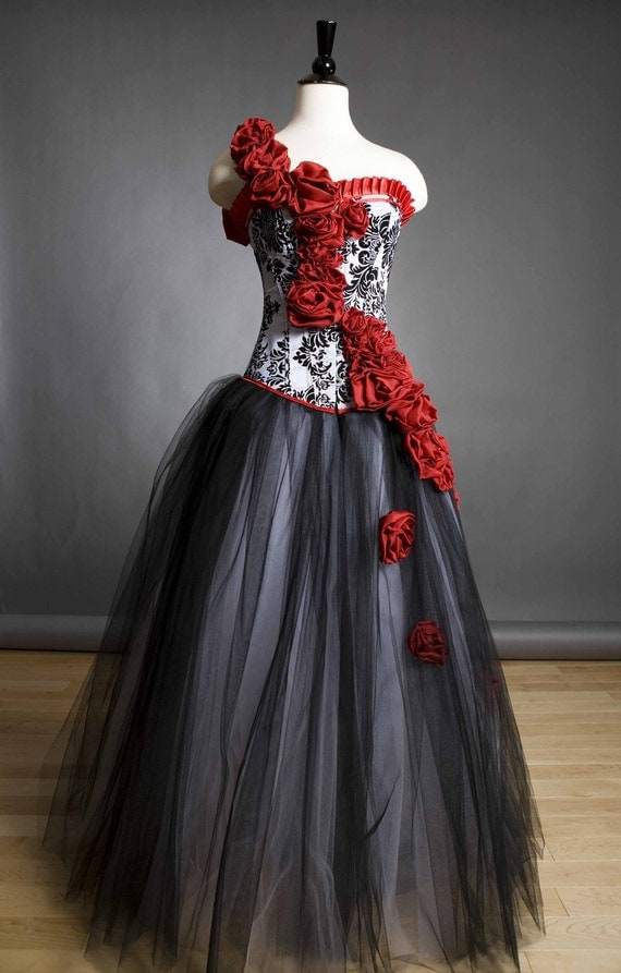 Private listing for Panda Allen Custom Size Damask red rose Burlesque Corset Prom dress Plus Size Down payment