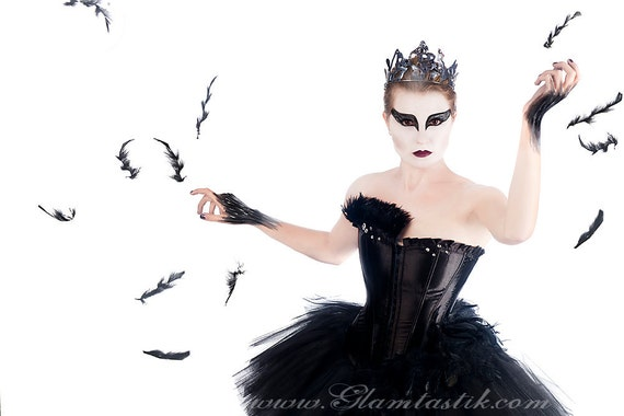 Custom Size Black Swan Ballet costume Burlesque tutu