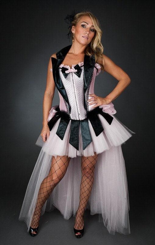 Size Small Burlesque Corset Dress Costume Las Vegas Showgirl