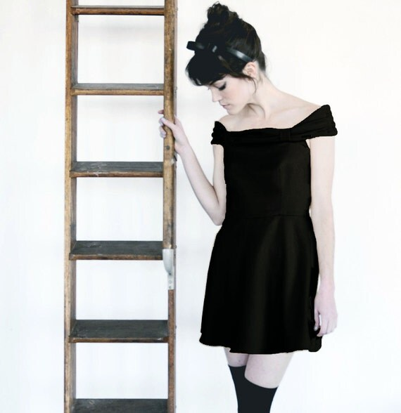 SALE - The Catherine Dress - BLACK - Ready To Ship