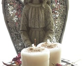 Ritual Candles -  2 Loaded Herbal All Saints White Votives Angelic Spiritual Protection & Guidance
