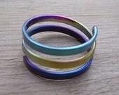 2 Turn Accelerator Energy Ring in Pure Niobium Rainbow