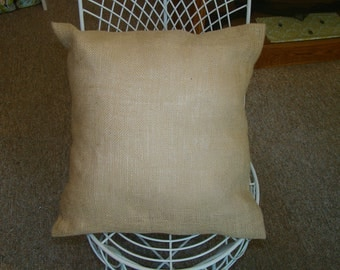 All Natural Burlap Pillow Cover in Jute Beautiful rustic, shabby chic look
