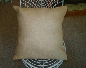 All Natural Burlap Pillow Cover in Jute Beautiful rustic, shabby chic look
