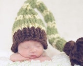 Santa Baby Hat in Mint Chocolate Swirl - Custom Newborn Photography Prop - Unisex