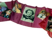 Family Silk Scarf -You Create  Printed  from Your Digital File