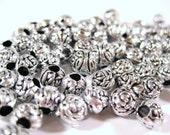 Plastic Silver Colour Beads