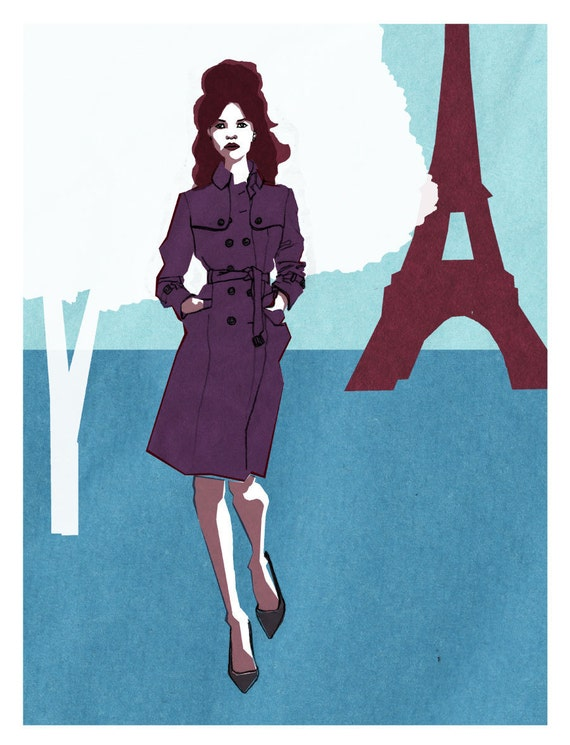 Paris Kate Oversized Archival Mod Print