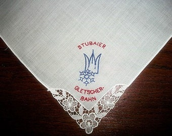 Handkerchief Stubaier Gletscher Vintage Unused