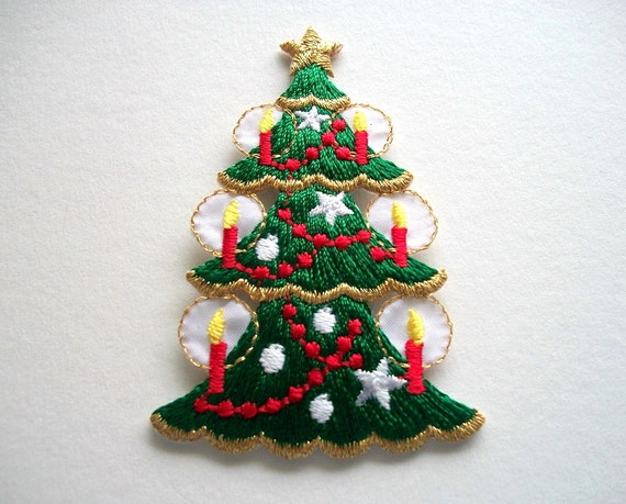 Christmas Tree Patch Holiday Iron On By HandcraftedorVintage