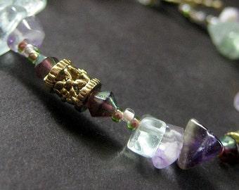 Musical Inspiration Bracelet in Flourite Gemstones. Handmade Jewelry by Gilliauna