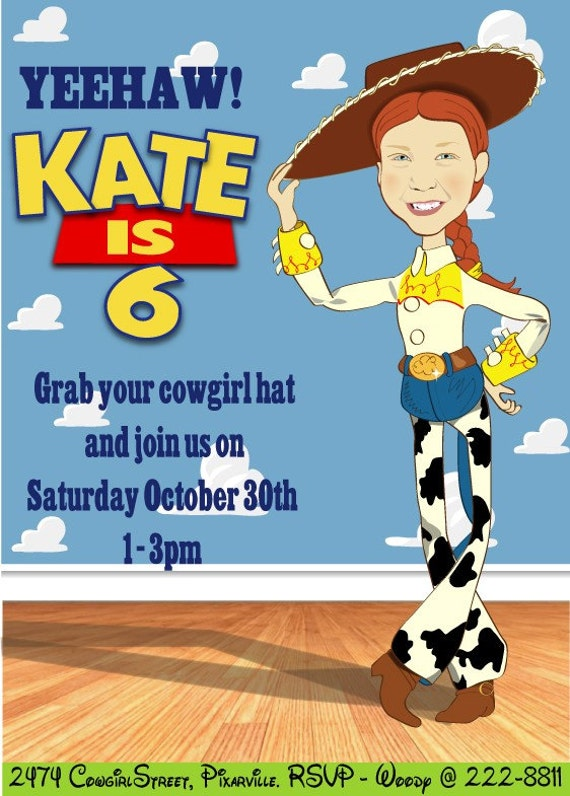 jessie toy story birthday party invitation by sandyforddesign, Party invitations