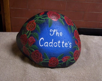 Custom Hand Painted Stone/Rock Doorstop Size Made to Order No Payment until Finished/ Free Shipping