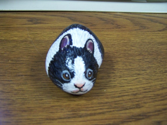 Dutch Rabbit Hand Painted Stone