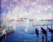 Italy Photography, Venice print, travel, wanderlust, bokeh, texture, home decor, square photo, romantic photograph of Italy