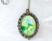 PHOTO PENDANT, beautiful romantic gift for girl, woman, wearable art, vintage jewelry, photography