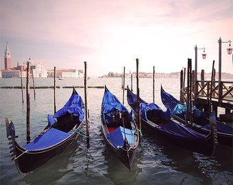 Venice photography, gondola photograph, Canal Grande, Vacations in Italy, holiday photos for beautiful home decor