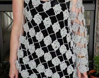 Crocheted Asymetrical Poncho