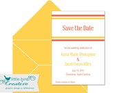 Save the Date: Candy Stripe Series