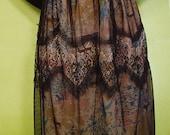 Lace&Chiffon Skirt