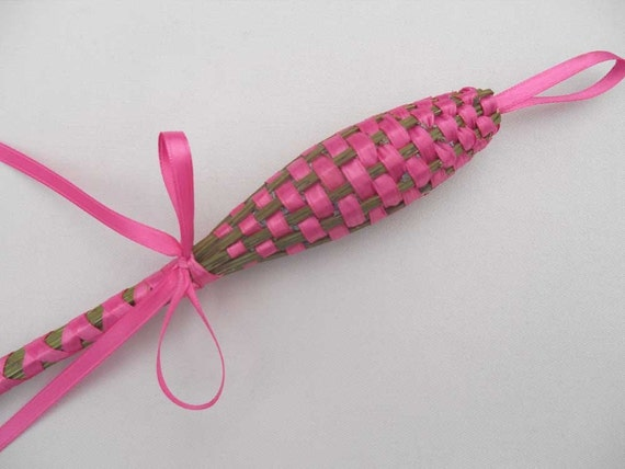 Organic Lavender Wand - Pink Satin Sachet - Aromatherapy for the Soul