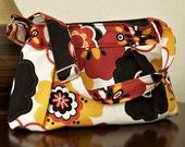 Cross Body Hobo Purse, Pleated Bag, Handbag, Diaper Bag including Matching Key Fob - Kleo