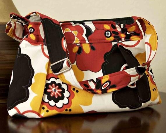 SALE - Cross Body Hobo Purse, Pleated Bag, Handbag, Diaper Bag,Ipad, Kindle Nook, Cover, Case - Kleo