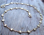 Gold filled Anklet, Gold Anklet, Gold Ankle Bracelet, Thin Gold Anklet