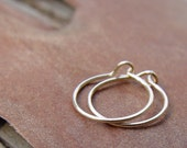 On Sale - Tiny Minimal Gold Filled Hoops - READY TO SHIP